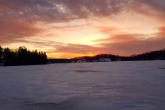 frozen lake sunset jan 2018