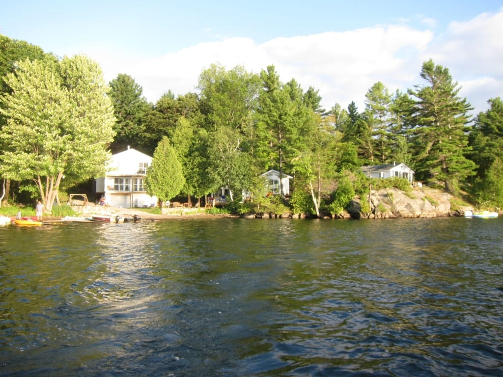 cottages from the lake